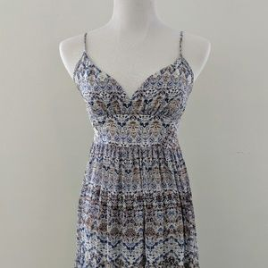 Blue and Brown L'agence Maxi Dress